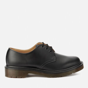 Dr. Martens 1461 PW Smooth Leather Narrow Fit 3-Eye Shoes - Black