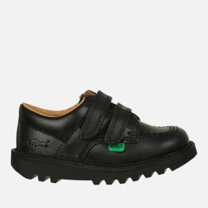Kickers Kids' Kick Lo Velcro Strap Shoes - Black: Image 1