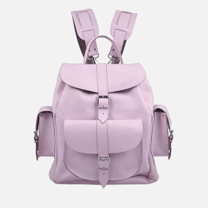 Grafea Lavender Medium Leather Rucksack - Lilac
