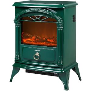 Warmlite WL46012G Log Effect Stove Fire - Green - 1800W