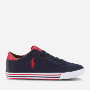 Polo Ralph Lauren Men's Harvey-Ne Trainers - Newport Navy/Red
