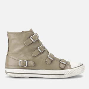 Ash Women's Virgin Leather Hi-Top Trainers - Taupe