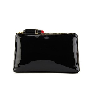 Lulu Guinness Women's T-Seam Medium Zip Pouch Cosmetic Bag - Black