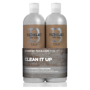 TIGI B For Men Clean Up Tween Duo (2 x 750ml) (im Wert von £ 46,45)