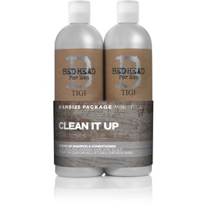 TIGI B  Men Clean Up Tween Duo (2x750ml) (价值 46.45 英镑)
