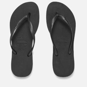 Havaianas Women's Slim Flip Flops - Black