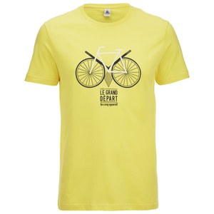 Le Coq Sportif Tour de France N13 Short Sleeved T-Shirt - Yellow