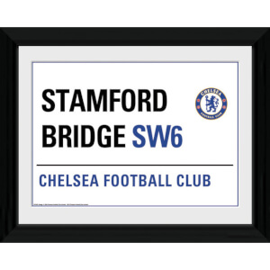 """Chelsea Street Sign - 16"""""""" x 12"""""""" Framed Photographic"""