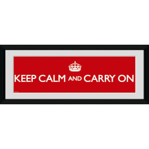 "Keep Calm And Carry On - 30"""" x 12"""" Framed Photographic"