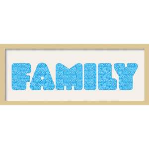 GB Cream Mount Family Fatty Font - Framed Mount - 12