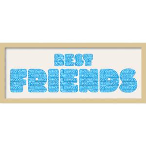 "GB Cream Mount Best Friends Fatty Font - Framed Mount - 12"""" x 30"""