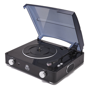 GPO Retro Stylo Turntable (3 Speed) with Built-In Speakers - Black