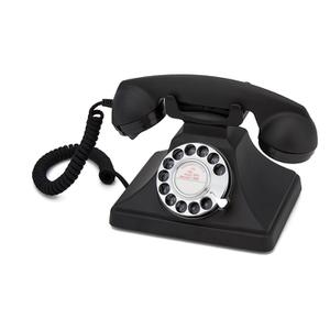 GPO 200 Classic Retro Drehscheiben Telefon - Schwarz