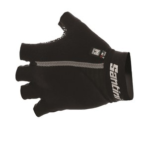 Santini Gel Mania Summer Mitts - Black