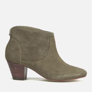 Hudson London Women's Kiver Suede Heeled Ankle Boots - Beige