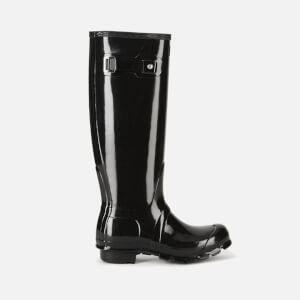 Hunter Women's Original Tall Gloss Wellies - Black: Image 1