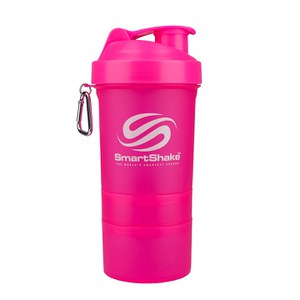 Smartshake 600ml Multi Storage Shaker Bottle - Neon Pink