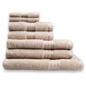 Restmor 100% Ägyptische Baumwolle 7 Stück Premium Handtuchset - Latte