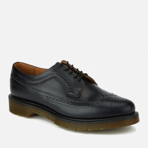 Dr. Martens Men's 3989 Pw Smooth Leather Wingtip Brogues - Black: Image 5