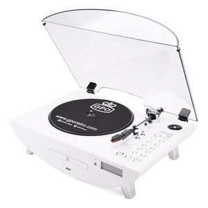 GPO Retro Jive 3 Speed Record Player with CD and MP3 - White