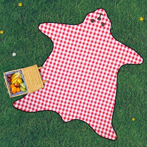 Bear Skin Picnic Blanket  - Red