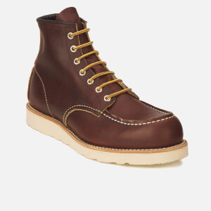 Red Wing Men's 6 Inch Moc Toe Leather Lace Up Boots - Briar Oil Slick: Image 5