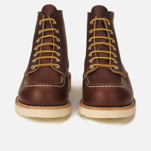 Red Wing Men's 6 Inch Moc Toe Leather Lace Up Boots - Briar Oil Slick: Image 4