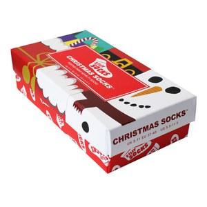 Silly Socks 3 Paare Geschenkschachtel - Weihnachten - Gröβe 38-44