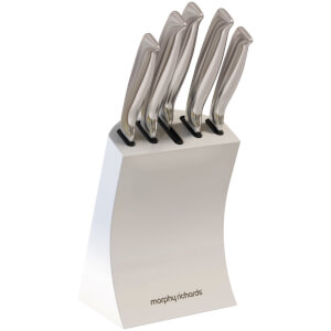 Morphy Richards 79005 5 Piece Knife Block - White