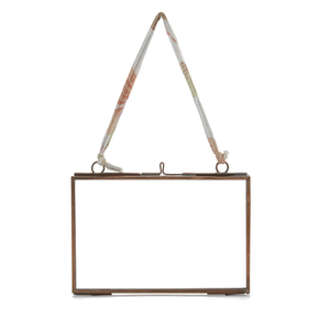 Nkuku Kiko Glass Frame Copper - Antique Copper - Landscape 4 x 6