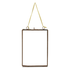 Nkuku Kiko Glass Frame - Antique Copper - Portrait 5