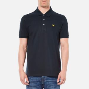 Lyle & Scott Vintage Men's Short Sleeve Pique Polo Shirt - New Navy