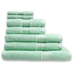 Restmor 100% Ägyptische Baumwolle 7 Stück Premium Handtuchset - Hellgrün