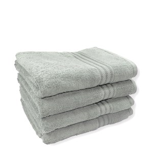 Restmor 100% Egyptian Cotton 4 Pack Bath Sheets (500gsm) - Silver