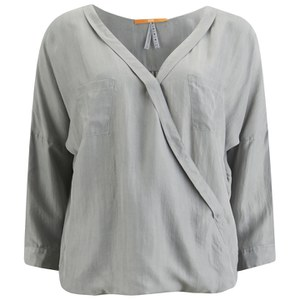 BOSS Orange Women's Euthalia Silk Blouse - Medium Grey