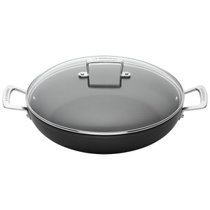 Le Creuset Toughened Non-Stick Shallow Casserole 30cm - Black