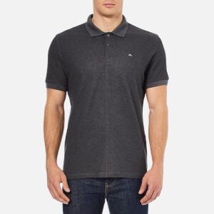 J.Lindeberg Men's Rubi Slim Fit Polo Shirt - Dark Grey Melange