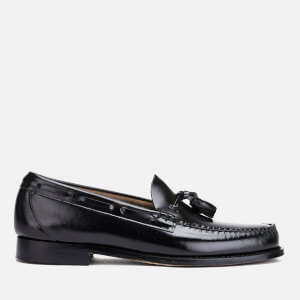 Bass Weejuns Men's Larkin Moc Leather Tassel Loafers - Black