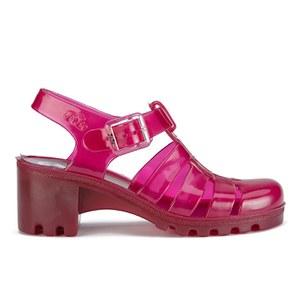 JuJu Women's Babe Heeled Jelly Sandals - Garnet