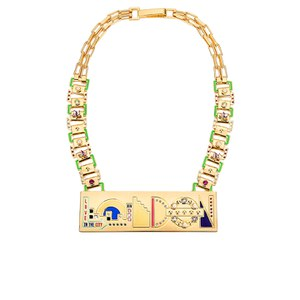 Maria Francesca Pepe Women's City Skyline London Statement Necklace - Gold