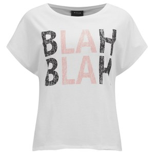 VILA Women's BLAH T-Shirt - Snow White