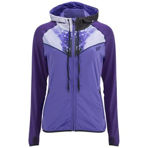 Myprotein Kvinde Printed Panel Zip Through Hoody - Lilla