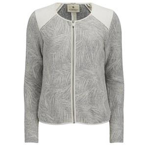 Maison Scotch Women's Zip-up Jacquard Sweat Blazer - Grey