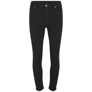 Cheap Monday Women's 'Second Skin' High Waisted Skinny Jeans - Very Stretch Black Cropped