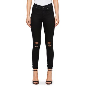 Cheap Monday Women's 'Mid Spray' Mid-Waisted Jeggings - Rip Black