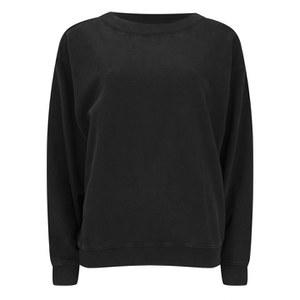 Cheap Monday Women's Extend Sweatshirt - Used Black Cotton Terry