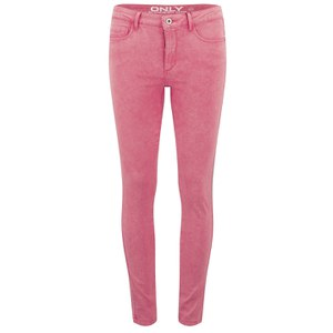 ONLY Women's Royal Skinny Acid Wash Jeans - Sugar Coral