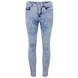 ONLY Women's Skinny Acid Wash Ankle Jeans - Blue