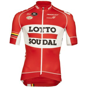Lotto Soudal Replica Pro Race Short Sleeve Jersey - Red