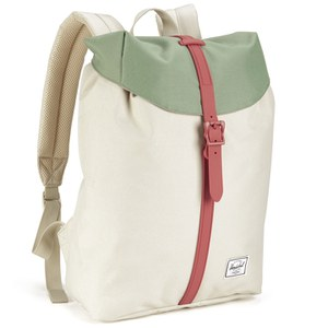 Herschel Supply Co Women S Post Mid Volume Backpack Natural Foliage Flamingo Rubber